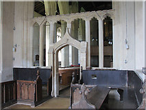 TL3852 : Harlton: chancel and screen by John Sutton