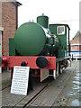 SO8218 : Gloucester Waterways Museum - fireless locomotive by Chris Allen