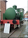 SO8218 : Gloucester Waterways Museum - fireless locomotive by Chris Allen