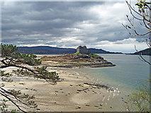 NM6672 : Castle Tioram from the Silver Walk by Bob Jones