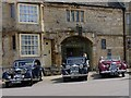 TL1689 : Three Riley cars parked outside The Bell by Richard Green