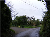 TM2750 : Valley Farm Road & the Bridleway to the A1152 Woods Lane by Adrian Cable