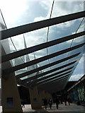 TQ3979 : Canopied Walkway O2 Arena, Greenwich by Christine Westerback