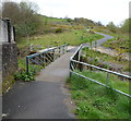 ST1189 : Aber Cycleway viewed from Church Road, Abertridwr by Jaggery