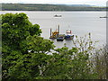 NT1280 : Marine excavations at North Queensferry by M J Richardson