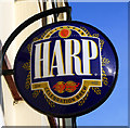 J5081 : Harp sign, Bangor by Rossographer