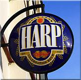 J5081 : Harp sign, Bangor by Rossographer