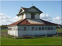 NT6779 : Coastal East Lothian : Rear of the Winterfield Park Pavilion, Dunbar by Richard West