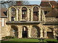 TQ7468 : The Chapter House ruins at Rochester Cathedral by Robert Edwards