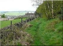 SE0421 : 98 Sowerby Bridge Footpath 136 in Longley Wood, Norland by Humphrey Bolton