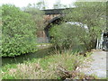 SD7903 : Manchester, Bolton & Bury Canal (Disused) and the Clifton Viaduct by Alexander P Kapp