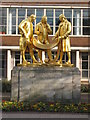 SP0686 : Statues of Matthew Boulton, James Watt and William Murdoch by Philip Halling