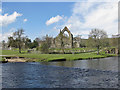 SE0754 : River Wharfe at Bolton Priory by Pauline E