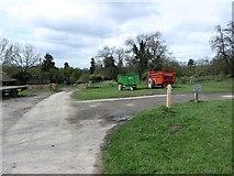 SO4465 : Home Farm, Croft by Richard Webb