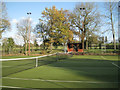 SP1267 : Ullenhall tennis courts and shelter by Robin Stott