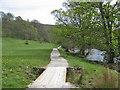 SE0755 : Plank footbridge over Stead Dike by Pauline E