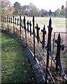 SP1267 : Churchyard fence, St Mary the Virgin by Robin Stott