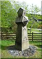 NN0858 : Sandstone obelisk at Ballachulish by kim traynor