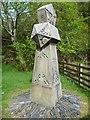 NN0858 : Sandstone obelisk at Ballachulish by kim traynor