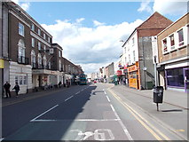 SK5319 : High Street - viewed from Wood Gate by Betty Longbottom