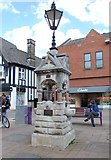 SK5319 : Drinking Fountain - Market Place by Betty Longbottom