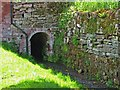 SO7262 : Shelsley Watermill (13) - entrance to mill race tunnel, Shelsley Walsh by L S Wilson