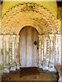 TM3898 : Carved portal, St. Gregory's, Heckingham by nick macneill