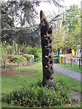 SK5319 : Wood Sculpture - Queen's Park by Betty Longbottom