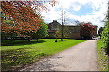 SJ5409 : Approaching the Mansion from the Stable Block at  Attingham Park by Mick Malpass