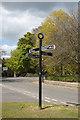 NJ8826 : Fingerpost sign, Udny Green by Bill Harrison