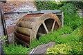 SU6098 : Stadhampton Watermill (2) - wheel, Stadhampton by P L Chadwick