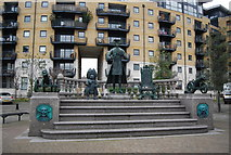 TQ3777 : Tsar Peter Monument, Millennium Quay by N Chadwick
