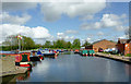 SJ9308 : Moorings and boatyard on the Hatherton Canal, Staffordshire by Roger  Kidd