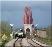NT1378 : Train about to cross the Forth Bridge by kim traynor
