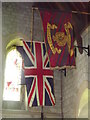 SU7730 : Greatham Church, Flags by Colin Smith