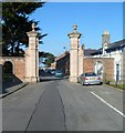 SH6076 : Grade II listed gate piers at SW end of Stanley Street, Beaumaris by Jaggery