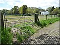 SJ7470 : Field gate and 'estate' fencing, Rudheath Woods by Christine Johnstone