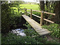 SU7630 : River Rother Footbridge by Colin Smith
