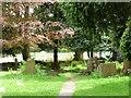 SP1584 : Eastern end of St Giles churchyard by Christine Johnstone