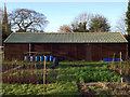 SP2865 : Scout hut by St John's Allotments by Robin Stott