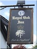 SO2956 : Sign at the Royal Oak - Kington by John M