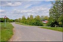 SK1433 : Flackets Lane, Gated Road by Mick Malpass