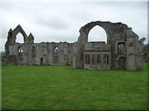SJ5415 : Part of Haughmond Abbey ruins by Jeremy Bolwell
