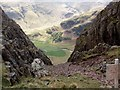 NY2706 : Langdale Valley From Just Below Pike O' Stickle by Bikeboy