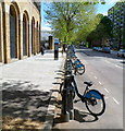 TQ2682 : Barclays Cycle Hire outside Lord's cricket ground, London by Jaggery