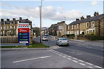 SD9851 : The junction of Craven Street and Keighley Road, Skipton by Bill Boaden
