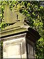 NZ4408 : Stone gatepost, Crathorne Hall by Stanley Howe