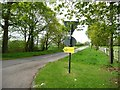 SJ7873 : Clay Lane at the 74 metre spot height, Over Peover by Christine Johnstone