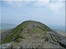 SO2718 : Walkers on the Sugar Loaf / Mynydd Pen y Fal by Jeremy Bolwell