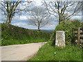 SX3774 : Milestone on a crossroads near Pempwell by Rod Allday